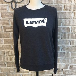Levi's Grey Logo Sweatshirt M NWT
